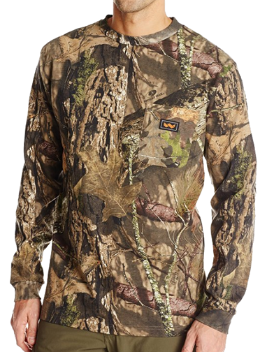 Long Sleeve Pocket Tshirt Mossy Oak Country Medium