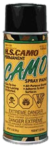 *12oz Flat Black Camo Spray Paint