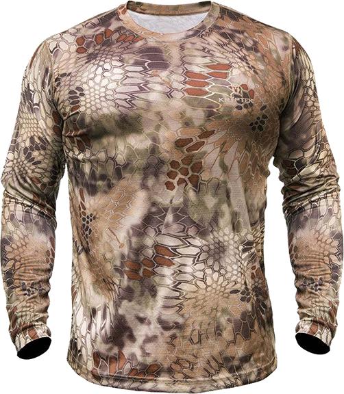 Hyperion Long Sleeve Crew Shirt Highlander Camo Xlarge