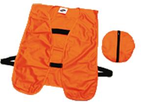 Blaze Orange Packable Safety Vest