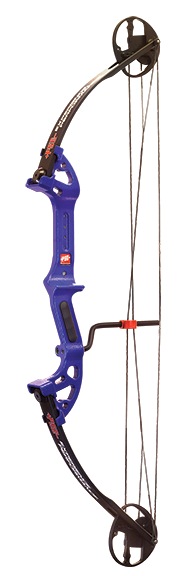 "17 Discovery Bowfishing Bow RH 30"" 40# Dk'D Blue"