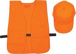 Allen Hat & Vest Combo Orange Medium - Xlarge (OSFA)