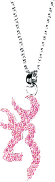 Browning Bling Buckmark Necklace Pink