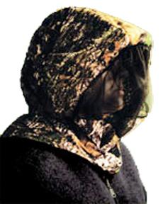 Headnet w/Face Shield Breakup Small/Medium
