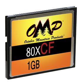 OMP 1GB 80X CF Card