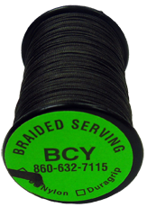 350 Nylon Braid .015 Serving Black 125YD Spool