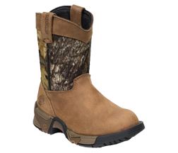 Kids Aztec Pull-on Boot Mossy Oak Breakup/Brown Size 1