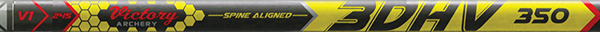 3DHV .204 Elite Target 400 Raw Shaft w/Unibushing/F Nock
