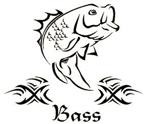 Bass Decal 5x6