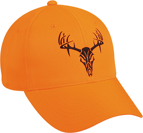 Blaze Orange w/Tribal Deer Skull Cap