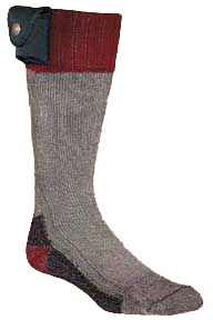 Lectra Sox Hiker Boot Style Grey/Maroon Large/Xlarge