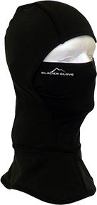 Glacier Glove Winter Clava Windproof Fleece Hood Black