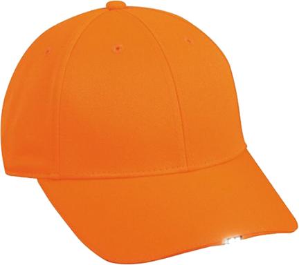 Hi Beam Solid Cap w/4 White LED Blaze Orange