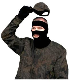 "Primos Black Stretch Fit 3/4"" Mask"