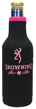 Browning 12oz Black & Pink Bottle Cooler