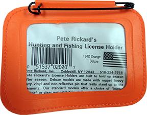 Hunting License Holder Orange