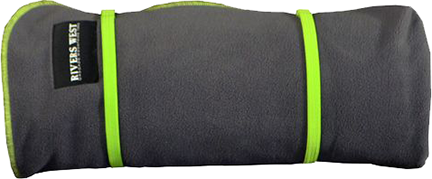 Waterproof/Windproof Outdoor Blanket Charcoal w/Green Accent