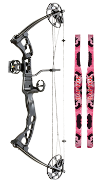 "15 Raptor Bow Right Hand Pink Accent 19-28"" 25-45#"