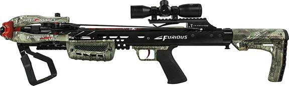 17 Furious 370 FRT Crossbow Kit Xtra Camo/black