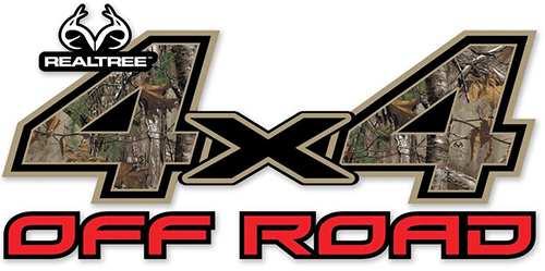 4x4 Off Road Contour-Cut Decal Realtree Xtra